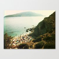 La plage Canvas Print