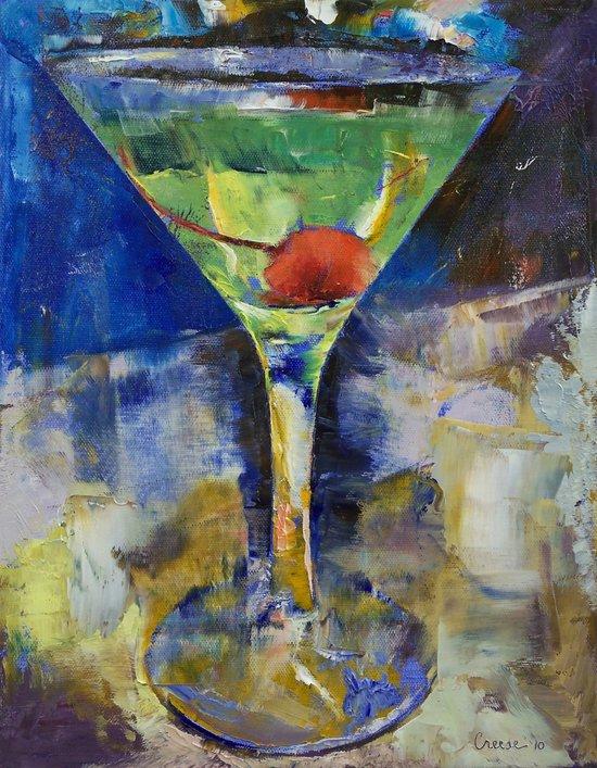 Summer Breeze Martini Art Print