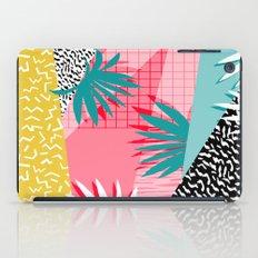 Bingo - throwback retro memphis neon tropical socal desert festival trendy hipster pattern pop art  iPad Case