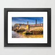 Lambeth Bridge London Framed Art Print