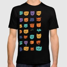 Stylish Cats Mens Fitted Tee Black SMALL