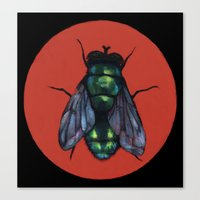 Canvas Print featuring Fly by Kismet