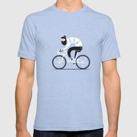 Let's ride Mens Fitted Tee Tri-Blue SMALL