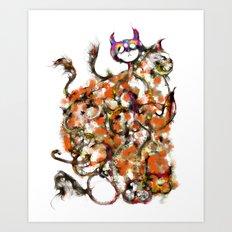 9 cats - cs168 Art Print
