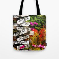 Signpost in the Fall Tote Bag