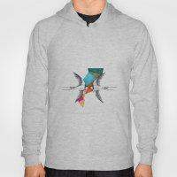 Swallows, Geometric Draw… Hoody