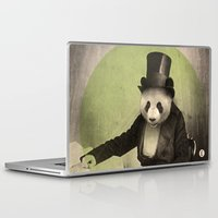panda Laptop & iPad Skins featuring Proper Panda by Chase Kunz
