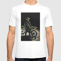 Moto X Mens Fitted Tee White SMALL