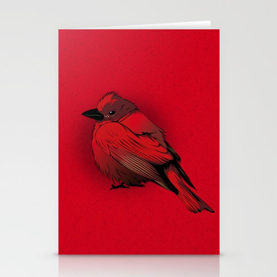 Little Red Bird Stationery Card