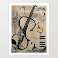 Electric Violin Art Print