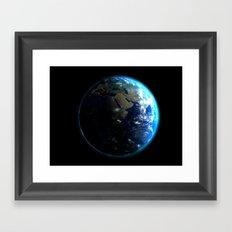 Dark Side of the Earth Framed Art Print
