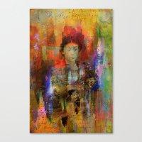 Woman samurai Canvas Print
