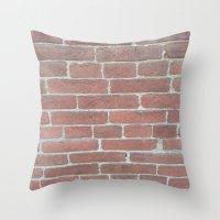 Soft Rock Brick Front Throw Pillow