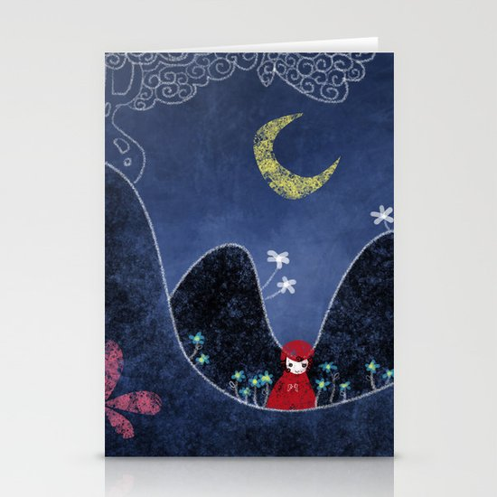 Little Red Stationery Card