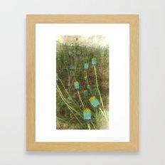Happy Landscape Poppies Framed Art Print