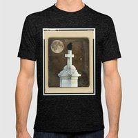 Old Stars Mens Fitted Tee Tri-Black SMALL