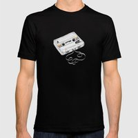 Cassette Mens Fitted Tee Black SMALL