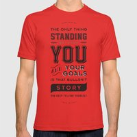 Bullshit Story Mens Fitted Tee Red SMALL