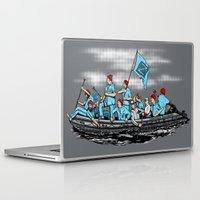 Laptop & iPad Skin featuring Team Zissou Crossing the Delaware by Tom Ledin