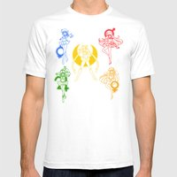 Sailor Scouts / Sailor Moon Mens Fitted Tee White SMALL