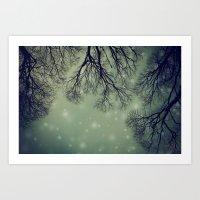 Alien Invader Trees Art Print