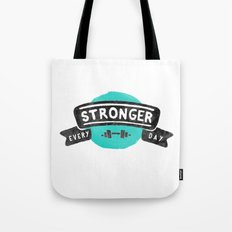 Stronger Every Day (dumbbell) Tote Bag