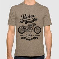 Rider Mens Fitted Tee Tri-Coffee SMALL
