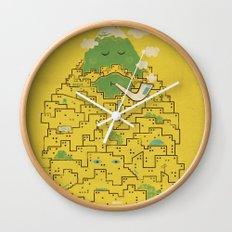The Bearded City Wall Clock