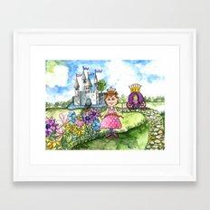 The Polka Dot Princess Framed Art Print
