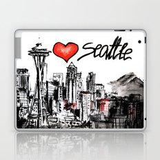 I love Seattle Laptop & iPad Skin