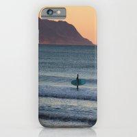 Surfer at sunset iPhone 6 Slim Case