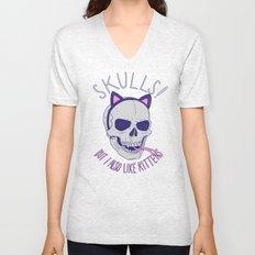 Skulls and Kittens Unisex V-Neck