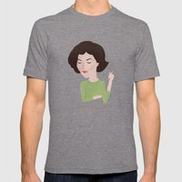 Twin Peaks Audrey Horne Mens Fitted Tee Tri-Grey SMALL