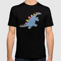 Stomp-a-saurus! Mens Fitted Tee Black SMALL