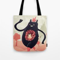 King eats King Tote Bag