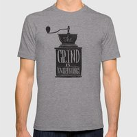 The Daily Grind Mens Fitted Tee Athletic Grey SMALL