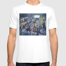 TV SMALL White Mens Fitted Tee