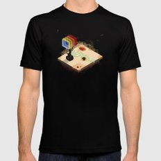 In the Rays of a Cloudless Sun SMALL Black Mens Fitted Tee