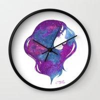 galactic hair Wall Clock