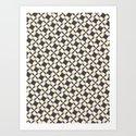 Retro Pinwheels Art Print