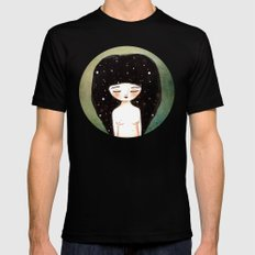 I am the Cosmos Black SMALL Mens Fitted Tee