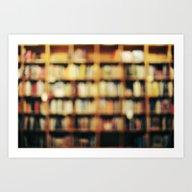 Book Bokeh Art Print