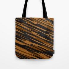 Black and orange abstact Tote Bag