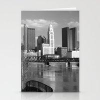 Columbus Ohio 3 - B&W Stationery Cards