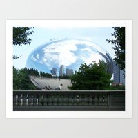 Chicago: Cloud Gate Art Print