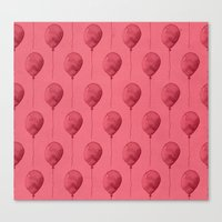 Balloons Watercolor Patt… Canvas Print