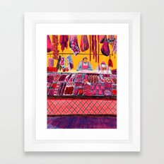 Meat Counter  Framed Art Print