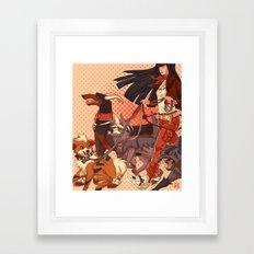 PokeDogs Framed Art Print