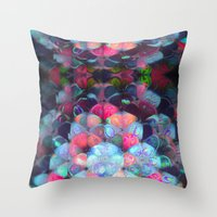 Graphic Atoms Throw Pillow