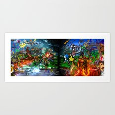 Nintendo Vs Sega Art Print